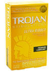 Trojan Ultra Ribbed Lubricated 12 pack